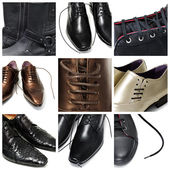 Men shoes collage — Stock Photo