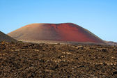 Timanfaya volcano, Lanzarote, Spain — Stock Photo