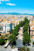 La Rambla of Barcelona, Spain — Stock Photo
