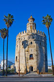 Torre del Oro, in Seville, Spain — Stock Photo