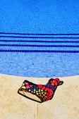 Basen i strój kąpielowy — Zdjęcie stockowe