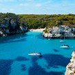 View of Macarelletbeach in Menorca, Balearic Islands, Spain — Stock Photo #4445278