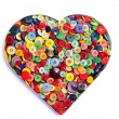 Royalty-Free Stock Photo: Buttons heart