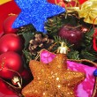 Some christmas stars and other christmas ornaments — Stock Photo