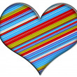 Striped heart — Stock Photo #4473532