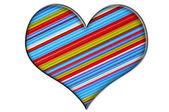 çizgili kalp — Stok fotoğraf