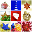 A collage of nine pictures of different christmas itmes — Stock Photo #4485876