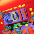2011 in a design made with modelling clay — Foto Stock