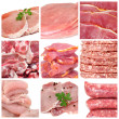 Meat collage - Stock Photo