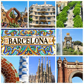Collage di barcellona — Foto Stock