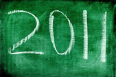 2011 written with chalk on a blackboard — Stock Photo