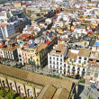 Aerial view of the old town of Seville, Spain — Stock Photo