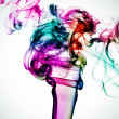 Stock Photo: Smoke of many colors