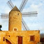 Typical windmill in Mallorca, Balearic Islands, Spain — Stock Photo