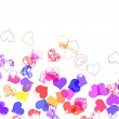 Hearts of different colors - Foto Stock