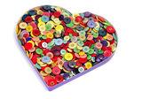 Düğmeleri kalp — Stok fotoğraf
