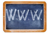 Www written with chalk — Stock Photo