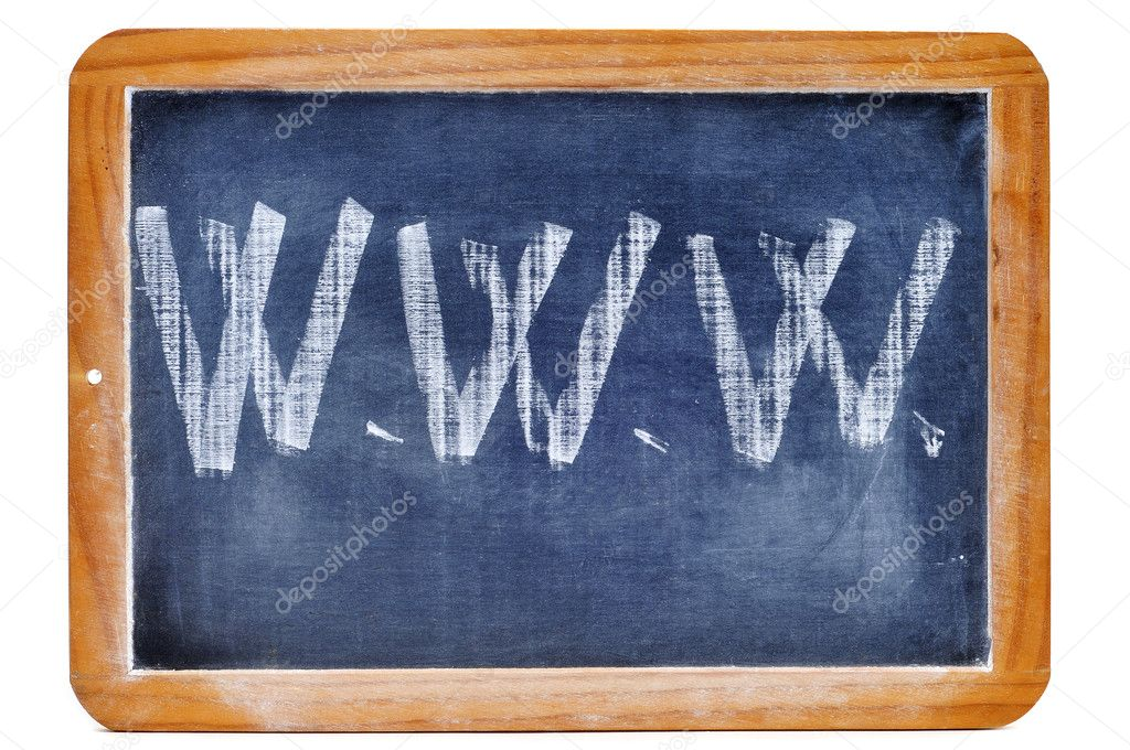 Www written with chalk in a blackboard — Stock Photo #4641255