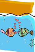 Fishes in love — Stock Photo