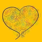Heart with spirals — Stock Photo