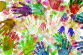Ręce tło — Zdjęcie stockowe
