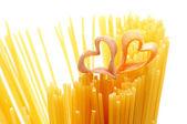 Heart shaped pasta — Stock Photo