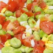 Broad beans salad - Stock Photo