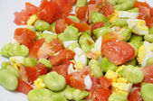 Broad beans salad — Stock Photo