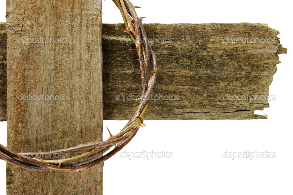 The crown of thorns and the cross of Jesus Christ — Stock Photo #4722923