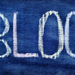 Word blog written with chalk — Stock Photo