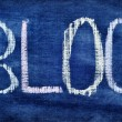 "Word ""blog"" written with chalk — Stock Photo"