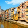Houses over Onyar River in Girona, Spain — Stock Photo