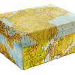 World map box — Stock Photo