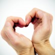 Two hands forming a heart — Stock Photo
