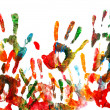Stock Photo: Colorful handprints