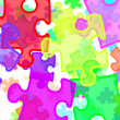 Puzzle pieces background — Stock Photo