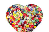 Buttons heart — Stock Photo