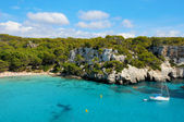View of Macarella beach in Menorca, Balearic Islands, Spain — Stock Photo