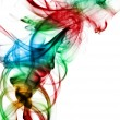 Stock Photo: Smoke of different colors