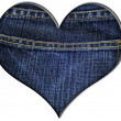 Denim heart - Stock Photo