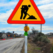 Road works sign — Stock Photo #4963292