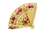Spanish hand fan — Stock Photo
