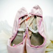 Pointe shoes and tutu — Stock Photo