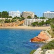 Capellans Beach, Salou, Spain - Stock Photo
