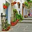 Stock Photo: A street of old town of Ibiza, Balearic Islands, Spain