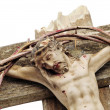 Jesus Christ and bloody crown of thorns — Stock Photo