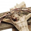 Jesus Christ and bloody crown of thorns - Stock Photo