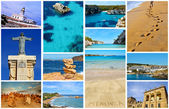 Collage with different views of Menorca, Balearic Islands, Spain — Stock Photo