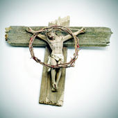 Jesus Christ in the holy cross — Stock Photo