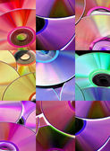 CD, CD-ROM and DVD — Stock Photo